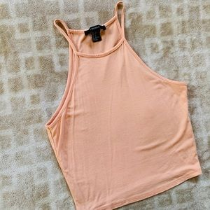 Forever 21, cute peachy crop tank top